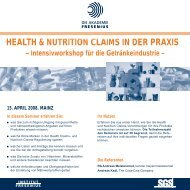 health & nutrition claims in der praxis nutrition claims in - Akademie ...