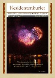 Residentenkurier Nr. 19, Dezember 2010/Januar 2011