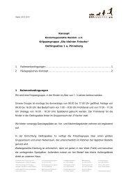 """Konzept Krippengruppe """"Die kleinen Frösche"""" Oeltingsallee 1 a ..."""