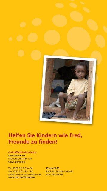 Fred, unser Cbm-Patenkind - Christoffel-Blindenmission