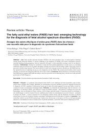 The fatty acid ethyl esters (FAEE) hair test - Annales de Toxicologie ...