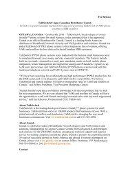 TalkSwitch®, the developer of owner-friendly™ phone ... - Gentek