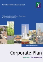 Corporate Plan - North Hertfordshire District Council