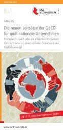 Die neuen Leitsätze der OECD für multinationale ... - Nord-Süd-Netz