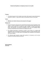 Revised draft guidance on temporary closure of core paths Purpose ...