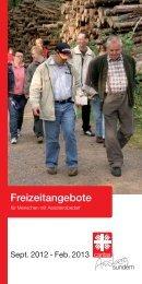 Freizeitangebote - Caritas Verband Arnsberg-Sundern ev