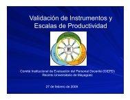 Validación de Instrumentos y Escalas de Productividad - UPRM