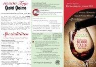 Donnerstag, 26. Januar 2012 - 12 neue Rotweine ... - Castel Cosimo