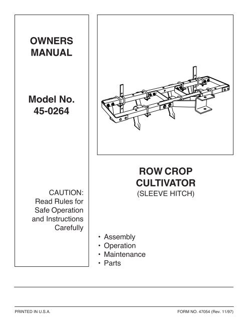 """Agri-fab (36"""") multi-fit tow-behind forward rotating mid-tine tiller."""