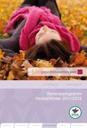 Seminarprogramm Herbst/Winter 20 /20 2 - PGA