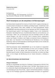 Presseinformation (pdf-Datei, 63 kB) - ÖGUT
