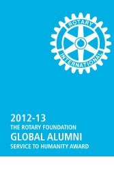 Read about past recipients - Rotary International