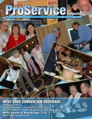 npsc 2006 convention coverage - International Society of Certified ...