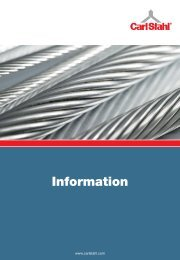 Information - Carl Stahl GmbH