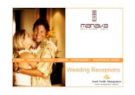 Manava Suite Resort Tahiti- Wedding receptions 2012