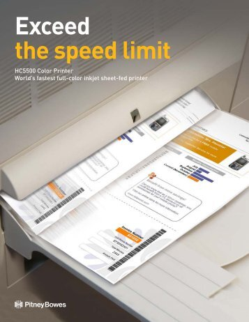Exceed the speed limit - Pitney Bowes