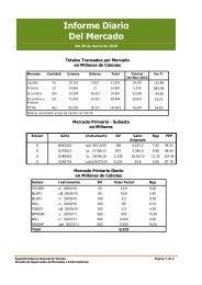 Informe Diario Del Mercado - Superintendencia General de Valores