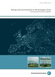 Energy and environment in the European Union - Tracking progress ...