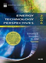 ENERGY TECHNOLOGY PERSPECTIVES 2 o o 6