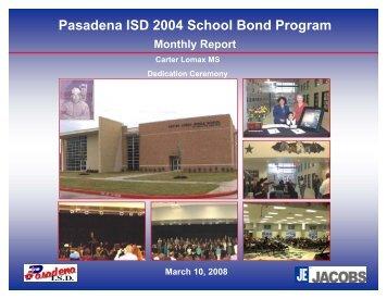 March 2008 - Pasadena Independent School District