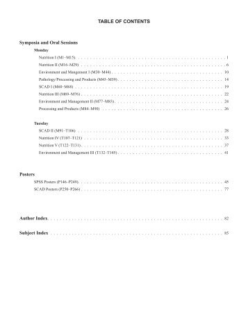 2010 SPSS Meeting Abstracts - Poultry Science Association