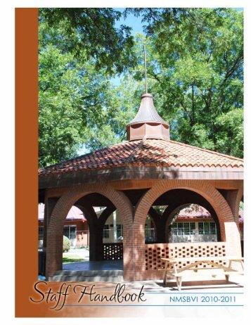 FY11 Staff Handbook_Web.pdf - New Mexico School for the Blind ...
