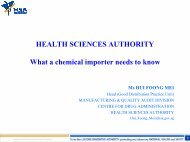 Health Sciences Authority - Singapore Customs