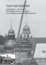 September bis November 2009 - Kirchengemeinde Clausthal