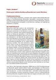 "Projekt ""Zambezia"" - Opportunity International Deutschland"