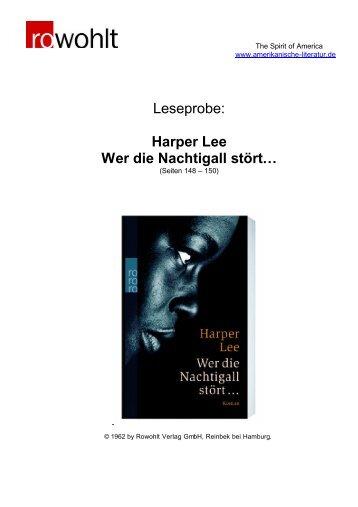 Leseprobe: Harper Lee Wer die Nachtigall stört…