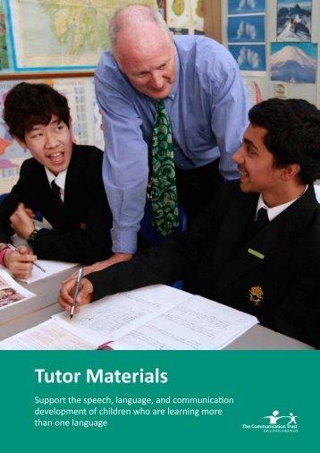 Tutor Materials - The Communication Trust