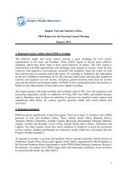 East and Southern Africa - People's Health Movement