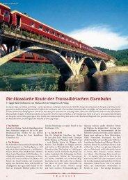 Die klassische Route der Transsibirischen Eisenbahn - Lernidee ...