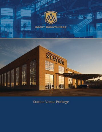 Station Venue Package - Rocky Mountaineer