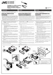 KD-SX999R KD-SX959R Handleiding voor installatie ... - Jvc