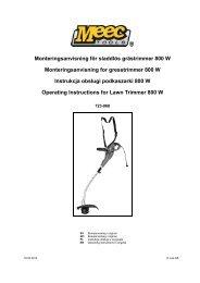 Monteringsanvisning för sladdlös grästrimmer 800 W ... - Jula