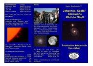 Johannes- Kepler- Sternwarte Weil der Stadt - Kepler-Gesellschaft