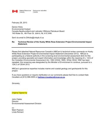 Response to WREP EA Report - Canada-Newfoundland Offshore ...