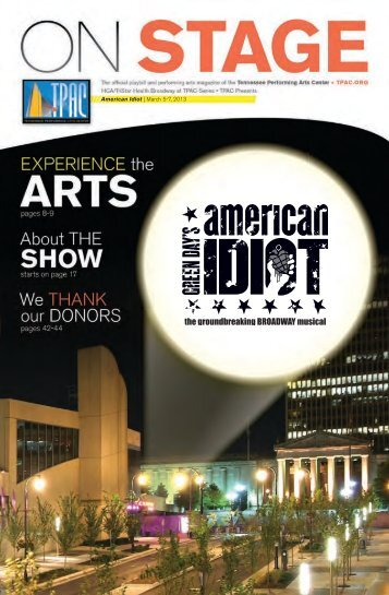 American Idiot | March 5-7, 2013 - Tennessee Performing Arts Center