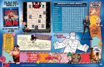 Kids menu - Walt Disney World