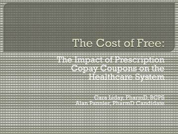 Drug coupons - College of Pharmacy