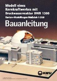 Modell eines Kernkraftwerkes mit aftwerkes mit - papermodels.de