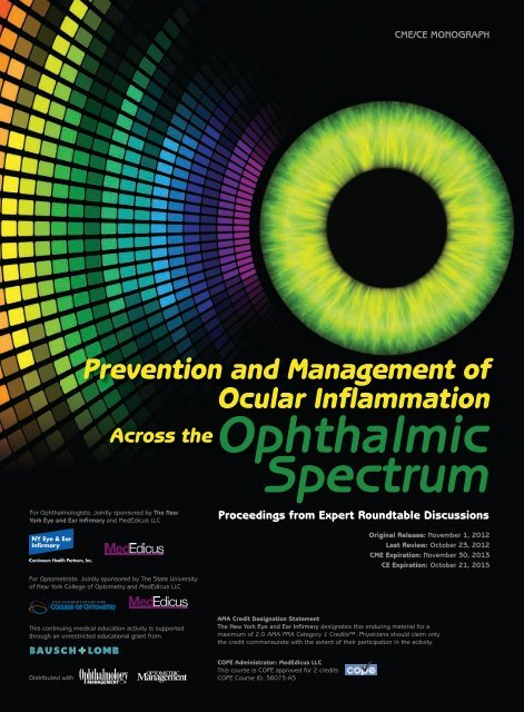 Prevention and Management of Ocular Inflammation - New York Eye ...