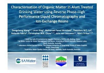 Presentation - National Water Research Institute