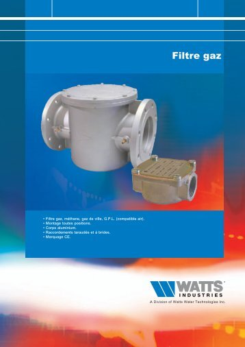 Filtre gaz - Watts Industries
