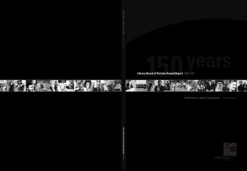 Library Board of Victoria Annual Report 2003–04 - State Library of ...