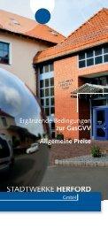 Ergänzende Bedingungen zur GasGVV - Stadtwerke Herford GmbH