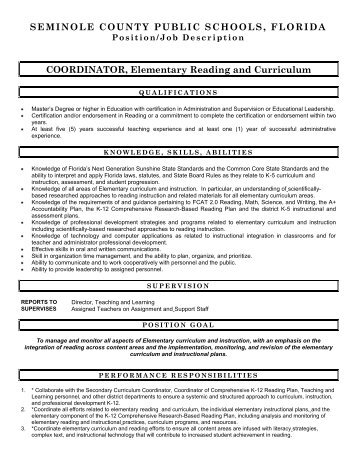 instructional coordinator job description