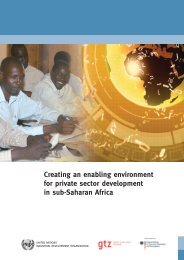 Creating an enabling environment for private sector ... - Unido