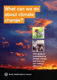 What Can We Do About Climate Change? - South Staffordshire ...